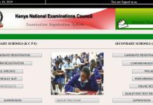 2019 KCSE and KCPE examination registration portal