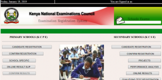 2019 KCSE and KCPE examination registration portal