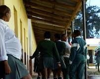 A photograph of a pregnant school girl. The Ministry of Education is in the processing of compiling cases of teenage pregnancies in schools