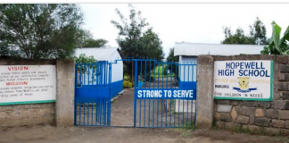 File Photo- Hopewell Secondary School in Nakuru. Students from the school have been arrested as prime suspects over the murder of Mr Omare; who was a Physics teacher at the Private School