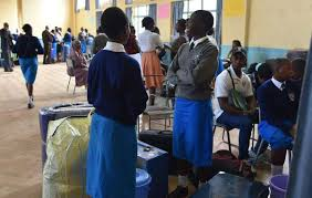 File photo- Form ones reporting to school. The Education Ministry has stepped up efforts to ensure 100 percent transition from primary to secondary