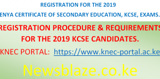 KCPE and KCSE 2019 Registration.