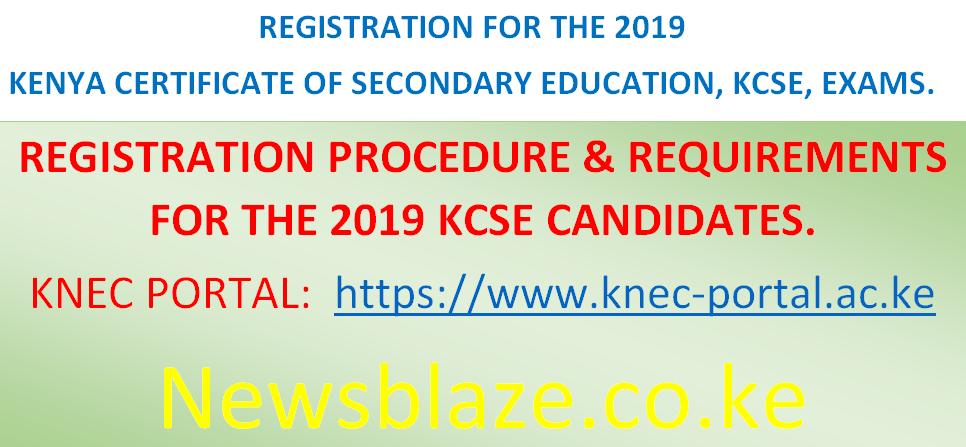 2019 KCSE & KCPE Registration Documents  | Newsblaze co ke