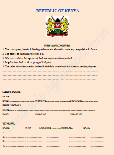 Land sale agreement form 2