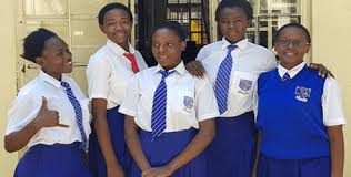 The five teenagers from Kisumu Girls High school who won the Daily Trust's African of the year award for 2018. The girls developed a mobile phone application called I-cut that is aimed at eradicating FGM