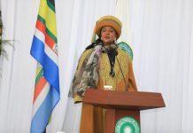 Education Cabinet Secretary, Dr Amina Mohammed, when she presided over the 15th Convocation of the Aga Khan University today. The Government has put in place stringent measures to ensure the current drought scourge does not affect school going children