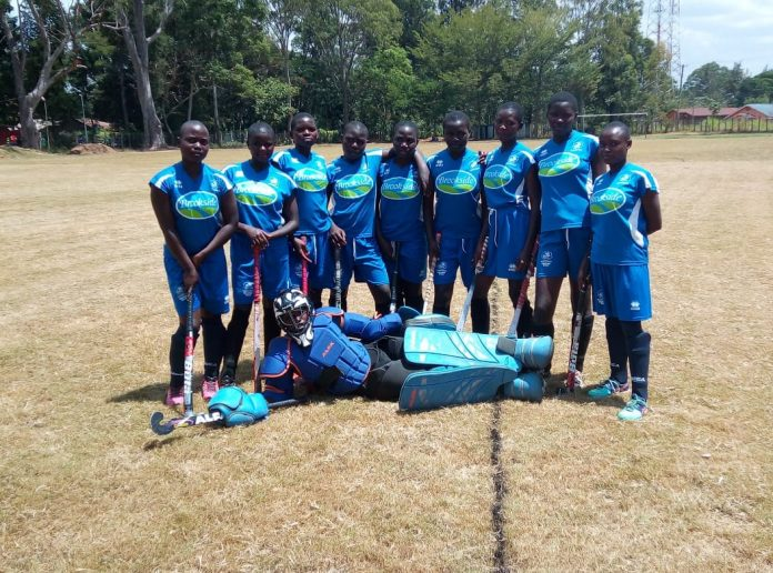 Eshitari Secondary school's hockey team. The newbies are the Butere Sub- county girls' hockey champs after condemning regulars, Butere Girls, to a 3-1 defeat in a hotly contested final played over the weekend at Butere Girls.