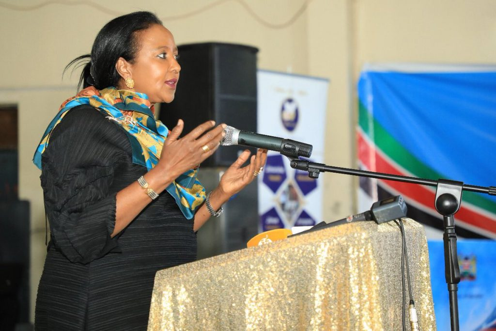 Education Cabinet Secretary, Dr Amina Mohammed, when she Launched the Ministry's Mentorship Policy this morning at Upper Hill High School. The policy, which complements the CBC, will regulate the registration, vetting and establishment of mentorship programs in all institutions of basic education in Kenya.