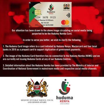 Huduma number Registration, NIIMS