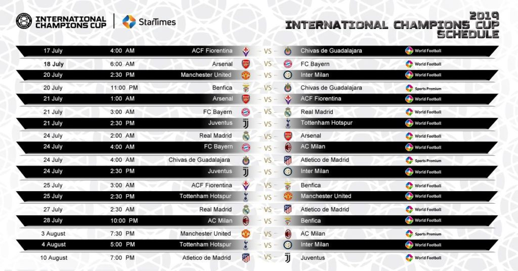 Top European football clubs to face off at this year's