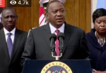 Photo/ File- President Uhuru Kenyatta at a past function.