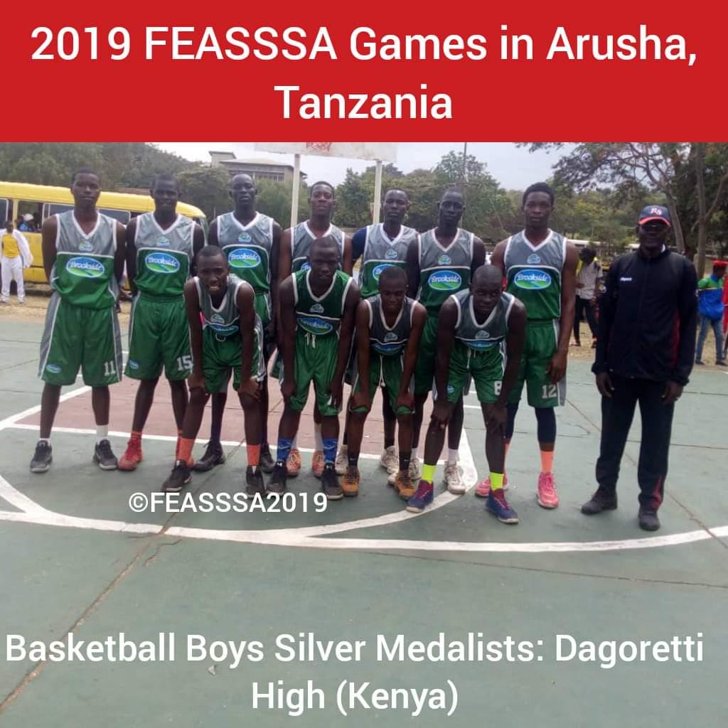 2019 East Africa School Games Basketball Boys' Silver Medalists; Dagoretti High School. Image/ Courtesy