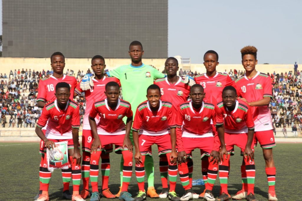 The Kenya Under 15 soccer team at the 2019 CECAFA finals