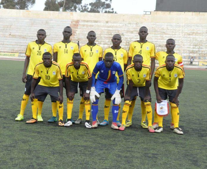 Uganda Under 15 soccer team at the 2019 CECAFA finals