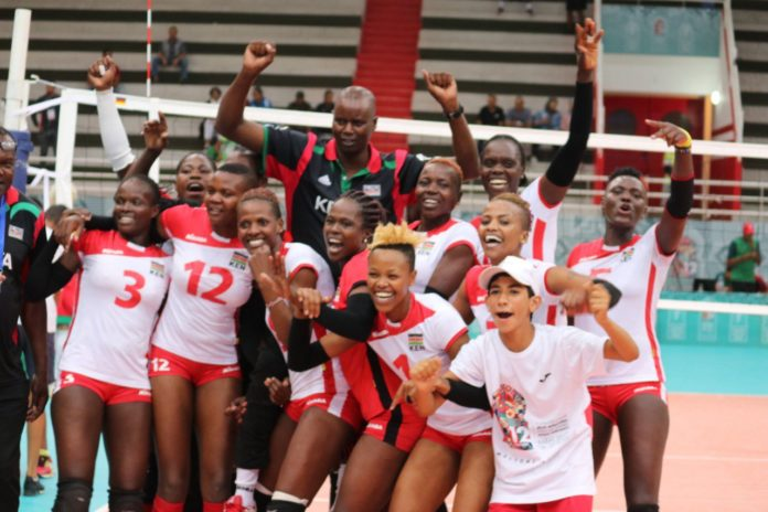 Kenya volleyball Women's team Malkia Strikers won Gold Medal at this year's All Africa Games. They defeated Cameroon 3 sets to 1 at a pulsating final played on Friday night.