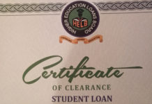 Helb certificate of clearance for a student's loan