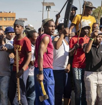Image from the Xenophobic attacks in South Africa.