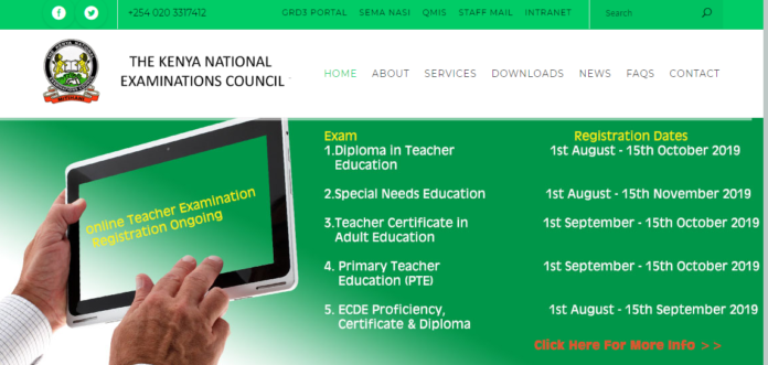 KNEC Teacher Exams online registration, requirements Time Tables and results