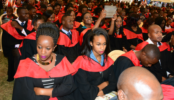 Kenya Utalii College Students at a past graduation Ceremony