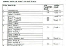 TSC new job groups, grades and titles for teachers