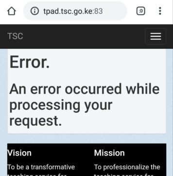 TPAD portal experiences run time errors.