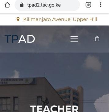 New TPAD log in system. tpad2.tsc.go.ke/teacher