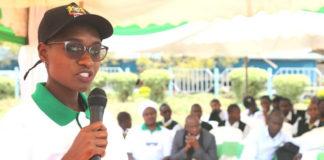GIZ Representatives Juliet Cheruto speaks during the Ozone Day