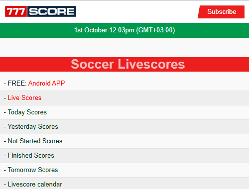 https://opera.777score.com for all your Soccer Live Scores