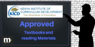 Full list of KICD approved Grade 4 Text books for teachers and learners; Textbook name and publisher