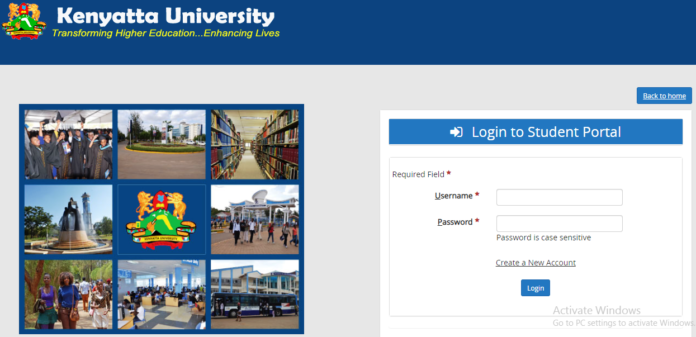 How to Log in to Kenyatta University Students Portal online, for Registration, E-Learning, Hostel Booking, Fees, Courses and Exam Results