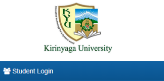 How to Log in to Kirinyaga University Students Portal online, for Registration, E-Learning, Hostel Booking, Fees, Courses and Exam Results