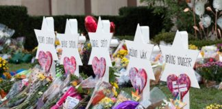 Memorial outside the Tree of Life Congregation Synagogue in Pittsburgh, October 2018. (Official White House photo