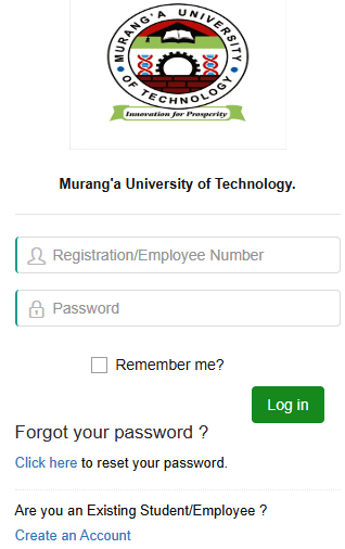 How to Log in to Murang'a University Students Portal, for Registration, E-Learning, Hostel Booking, Fees, Courses and Exam Results
