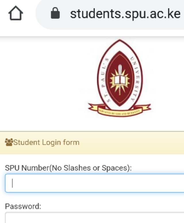 How to Log in to St Pauls University Students Portal, https://students.spu.ac.ke, for Registration, E-Learning, Hostel Booking, Fees, Courses and Exam Results