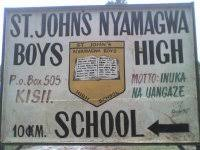 St Johns Nyamagwa Boys Extra County Secondary School in Kisii County; School KNEC Code, Type, Cluster, and Category