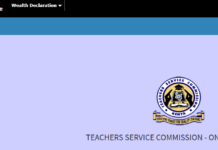 How to file TSC 2019 Wealth Declaration form online for teachers: TSC Guide