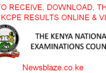 How to receive the 2019 KCSE results; the knec sms code, online results portal; http://www.knec-portal.ac.ke