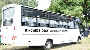 Bus belonging to Kingede Secondary School; One of the Extra County Schools in Kwale County