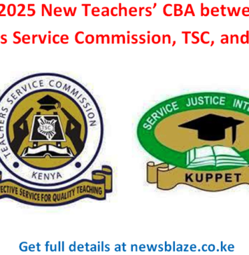 TSC and KUPPET discussions on the new 2021-2025 CBA for teachers; Latest news