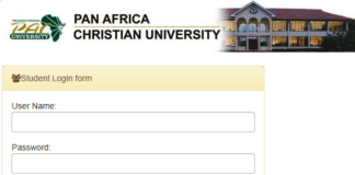 How to Log in to Pan Africa Christian University Students Portal, for Registration, E-Learning, Hostel Booking, Fees, Courses and Exam Results