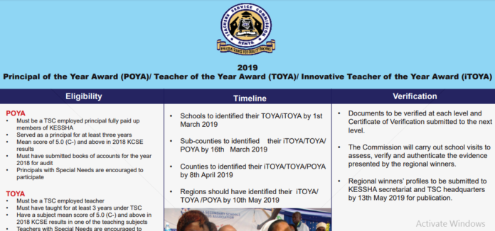Here are the 2019 National iTOYA, TOYA, and POYA winners plus their details and achievements and List of Regional winners: TSC News