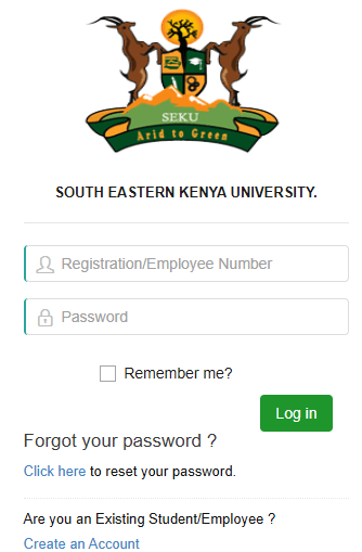 How to Log in to South Eastern Kenya University Students Portal, http://portal.seku.ac.ke, for Registration, E-Learning, Hostel Booking, Fees, Courses and Exam Results