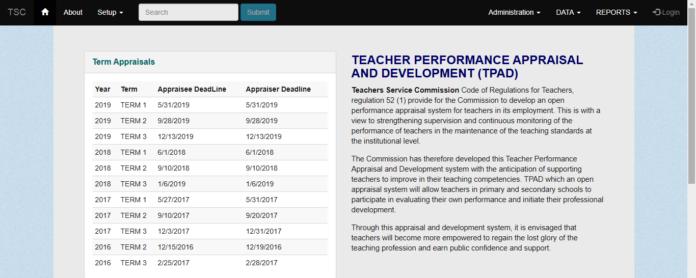 TSC sets deadline for filling 2019 term 3 TPAD data online by teachers; How to fill Teachers' Appraisal form online, deadline for Appraiser and Appraisee data