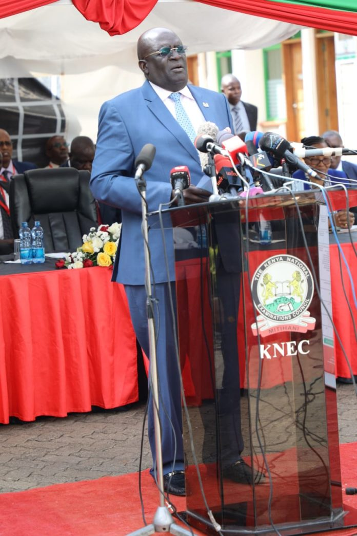 Here is the Speech by the Education Cabinet Secretary Professor George Magoha during the release of the 2019 Kenya Certificate of Primary Education (KCPE) results on Monday November 18, 2019;