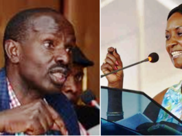 KNUT boss Wilson Sossion (Left) and TSC CEO Dr. Nancy Macharia (Right)/ File Photo