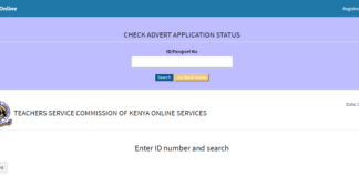TSC advert application status for 2019 TSC internship, redeployment and promotions vacancies, online.