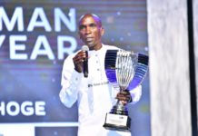 Eliud Kipchoge for the second year running was crowned the 2019 SOYA Sports Personality