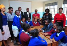 Dagoretti South MP John Kiarie at Riruta Satellite Primary School.