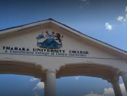 Tharaka University College student admission letter and KUCCPS admission list free pdf download.