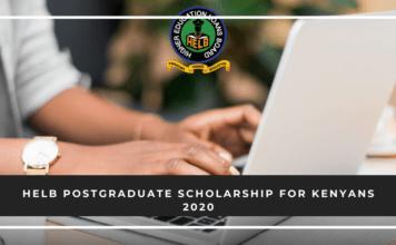 HELB Postgraduate Scholarship for Kenyans